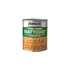 Ronseal Ultra Tough Matt Coat Varnish 250ml Clear