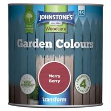 Johnstones Garden Colours Paint 1L Merry Berry