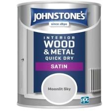 Johnstones Quick Drying Satin Paint 750ml Moonlit Sky