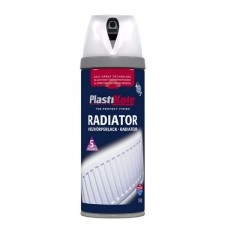 PlastiKote Radiator Spray Paint 400ml White Gloss