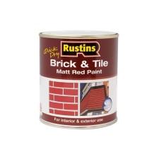 Rustins Brick/Tile Paint 250ml Red Matt