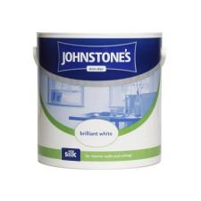 Johnstones Vinyl Emulsion Paint 2.5L Brilliant White (Silk)