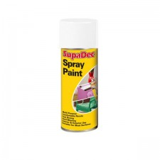 Supadec Spray Paint 400ml White Gloss