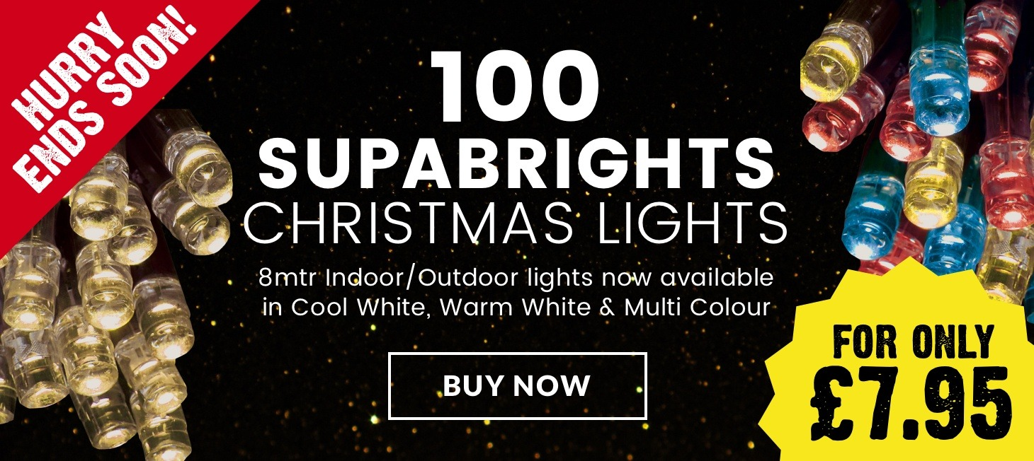 100 Supabright Christmas Lights