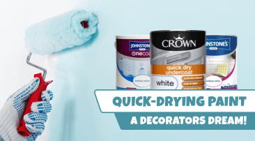 A decorators dream: Quick-drying paint
