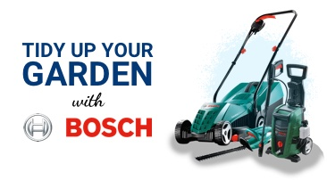 Tidy up your garden with Bosch